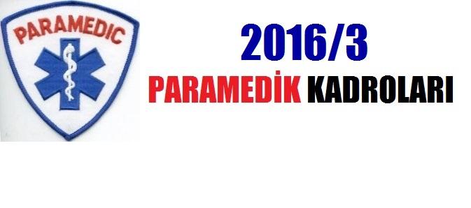 KPSS 2016/3 Paramedik Kadroları