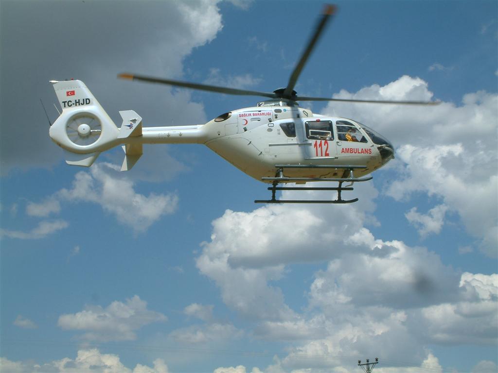 İzmir'de Ambulans Helikopterin Üçüncü Yılı Kutlandı