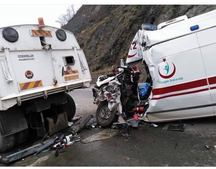112 Ekibi Kaza Yaptı,Sürücü Şehit Oldu!