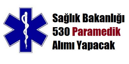 Sağlık Bakanlığı  530 Paramedik (SAĞLIK TEKNİKERİ ACİL TIP TEKNİKERİ) Alımı Yapacak