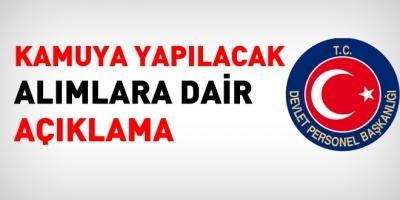 DPB' den Kamuya Yapılacak Atamalara İlişkin Açıklama