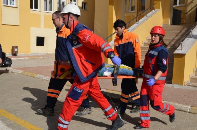 Uşak UMKE Deprem Tatbikatında