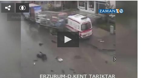 Ambulans, tüp yüklü kamyona çarptı / Tıkla İZLE