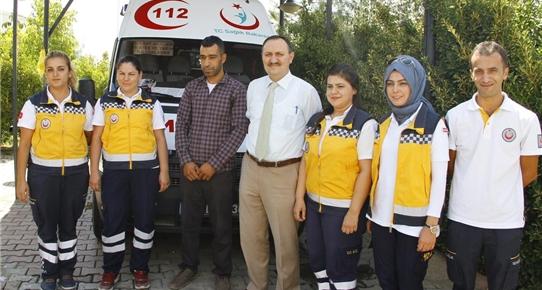 Hasta yakınından 112 personeline teşekkür
