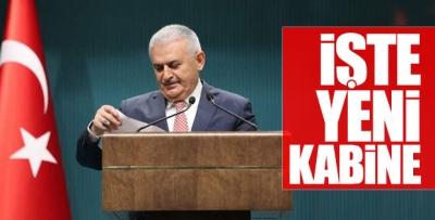 Erdoğan Yıldırım görüşmesi bitti, işte yeni kabine