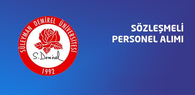 Süleyman Demirel Üniversitesi Sözleşmeli Personel Alım İlanı