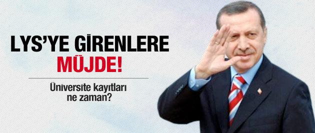 Başbakan Erdoğan'dan LYS talimatı