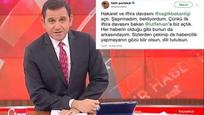 Fatih Portakal'dan Sağlık Bakanlığına yanıt geldi!