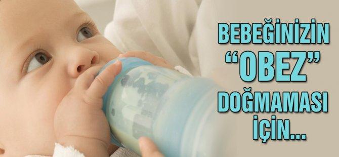 Bebeğinizin obez doğmaması için