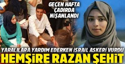 Gönüllü hemşire, İsrail'in keskin nişancısı tarafından vuruldu