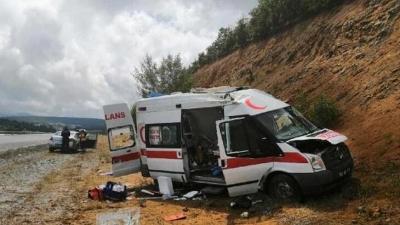 Hasta Taşıyan Ambulans Takla Attı!