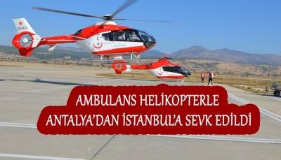 Hava Ambulansı 8 günlük bebek için havalandı