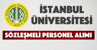İstanbul Üniversitesi Sözleşmeli Sağlık Personeli Alım İlanı