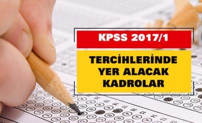 İşte, 2017/1 KPSS tercihlerinde yer alacak 2 bin 780 kadro ve pozisyon