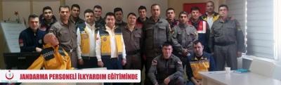Jandarma Komutanlığı Personellerine Sertifikalı İlkyardım Eğitimi Verildi