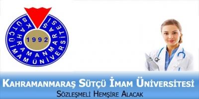 Kahramanmaraş Sütçü İmam Üniversitesi Sözleşmeli Sağlık Personeli Alıyor