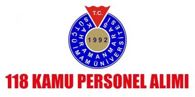 Kahramanmaraş Sütçü İmam Üniversitesi 118 sözleşmeli sağlık personeli alımı yapacak (DPB)