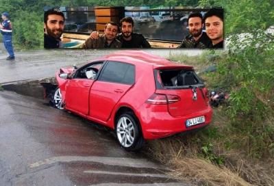 Karadeniz gezisine çıkan sağlıkçılar kaza yaptı: 3 ölü, 1 yaralı