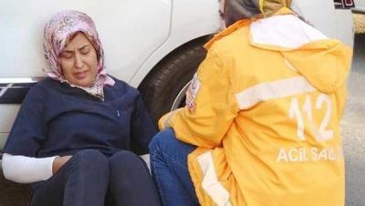 Kaza yapan hemşirenin gözyaşları