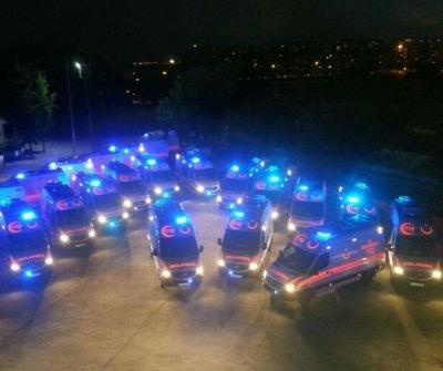 Kaza yerine 77 ambulans gitti