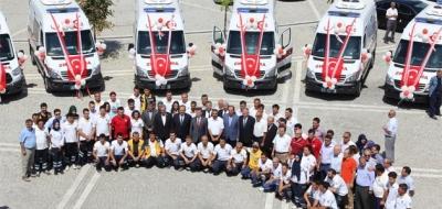 Konya'da 19 ambulans hizmete girdi