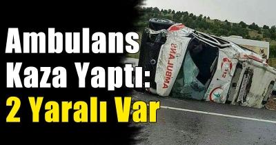 Konya'da ambulans devrildi: 2 yaralı