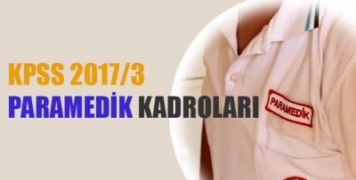 KPSS 2017/3 Paramedik Kadroları