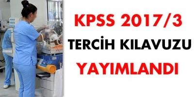KPSS 2017/3 tercih kılavuzu yayımlandı