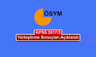 KPSS 2017/3 yerleştirme sonuçları açıklandı