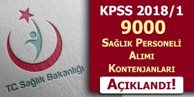 KPSS 2018/1 Sağlık Bakanlığı 9000 Personel Alımı Kontenjanları Açıklandı