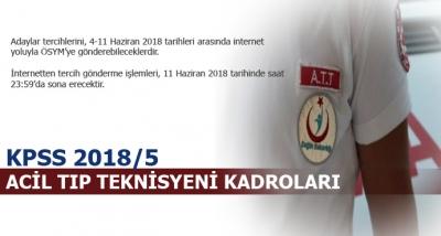 Acil Tıp Teknisyeni (ATT) Kadroları (KPSS 2018/5)