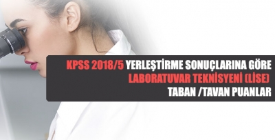 KPSS 2018/5 Yerleştirme Sonuçlarına Göre Laboratuvar Teknisyeni (Lise) Taban/Tavan Puanlar