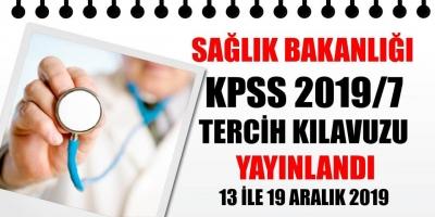 KPSS-2019/7 Sağlık Bakanlığı Tercih Kılavuzu Yayımlandı