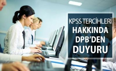 KPSS Tercihlerine İlişkin DPB'den Açıklama