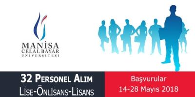 Manisa Celal Bayar Üniversitesi Sözleşmeli Sağlık Personeli Alımı İlanı