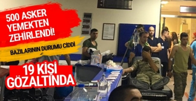 Manisa'da yine onlarca asker hastaneye kaldırıldı