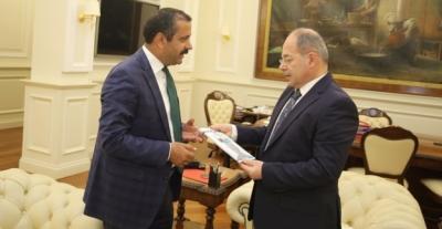 Memiş,Sağlık Bakanı Recep Akdağ'ı makamında ziyaret ederek, sağlık çalışanlarının taleplerini iletti.