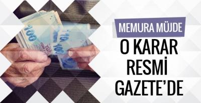 Memura ek ikramiye müjdesi Resmi Gazete'de yayınlandı