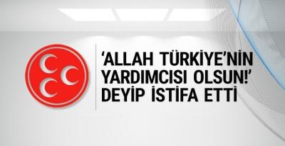 MHP'de kritik istifa ülkücü isim gitti