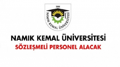 Namık Kemal Üniversitesi Sözleşmeli Personel Alımı İlanı (En az 50 KPSS Puanı ile)