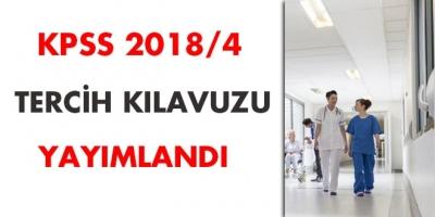 ÖSYM KPSS 2018/4 Sağlık personeli alımı tercih kılavuzu yayınlandı!