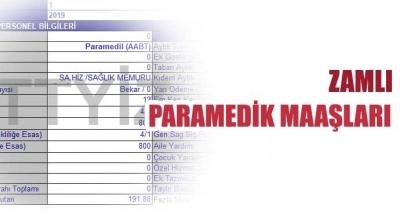 Paramedik (AABT/Önlisans) Maaşları (2019-Temmuz Zamlı)