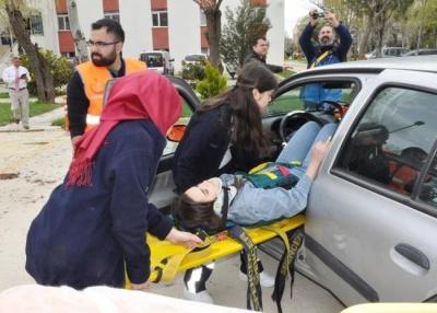 Paramedik rallisi nefes kesti