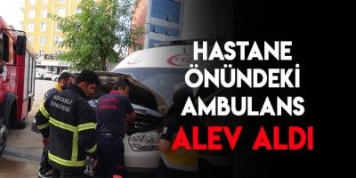 Park Halindeki Ambulans Alev Aldı