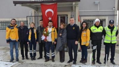 Polisten 112 Acil görevlilerine teşekkür