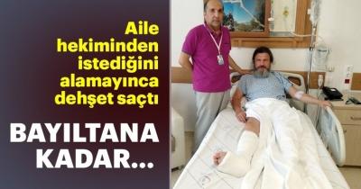 Rapora itiraz eden doktoru bayıltana kadar dövdü