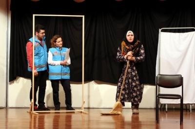 Sağlık çalışanları ilginç anılarını tiyatro ile anlattı