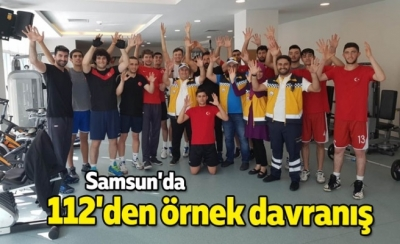 Samsun'da 112'den örnek davranış