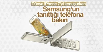 Samsung kapaklı telefonunu tanıttı
