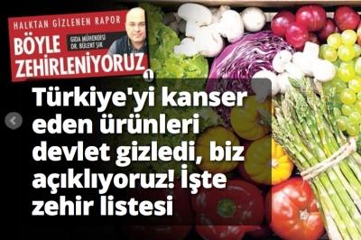 Şık:Türkiye'yi kanser eden ürünler! İşte zehir listesi